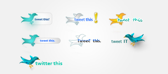 24 Twitter Icon Set