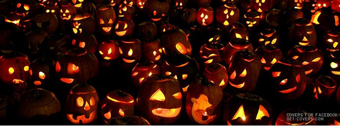 halloween pumpkins facebook timeline cover