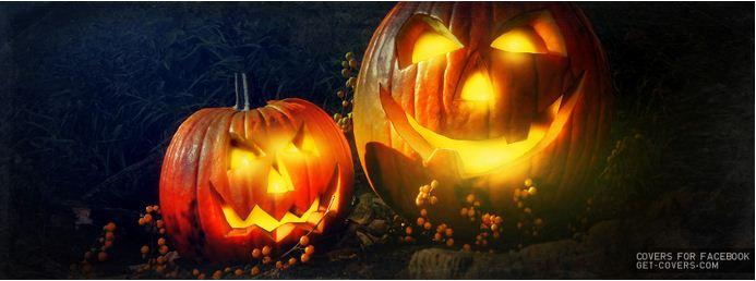 smiling spooky pumpkins halloween facebook cover photo