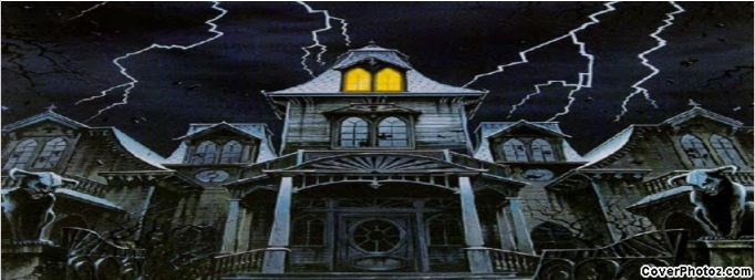 halloween house facebook cover picture