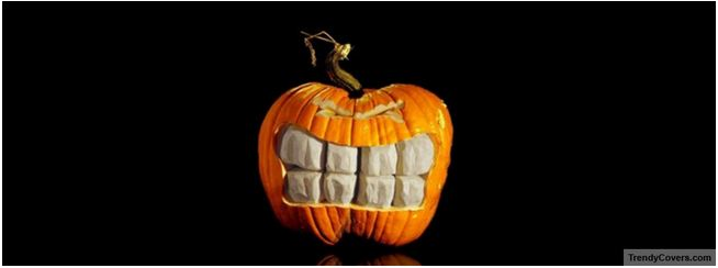 carved pumpkin halloween facebook cover
