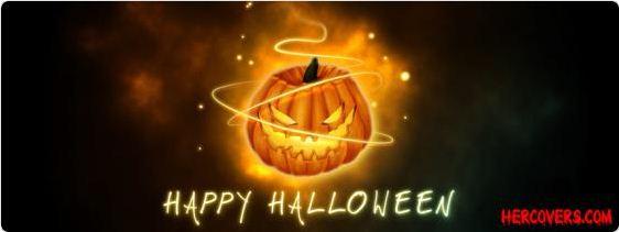 Happy Halloween Pumpkin Facebook Cover