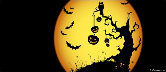 Halloween Moon Facebook Cover