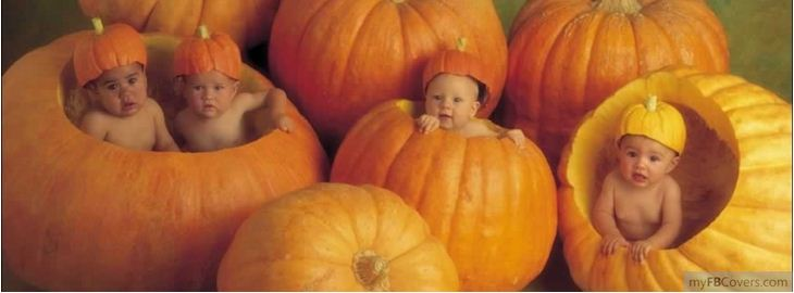 Pumpkin Kids Halloween Facebook Cover