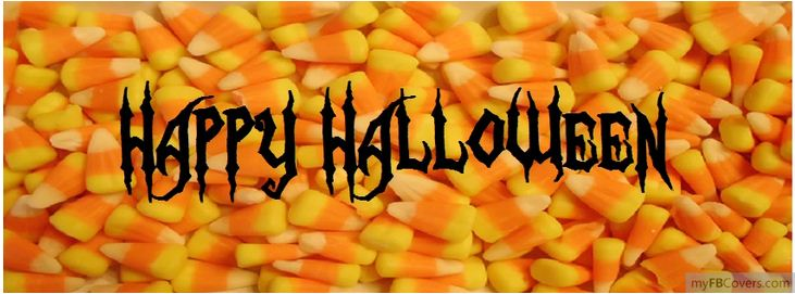 Happy Halloween Candy Facebook Cover