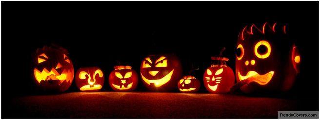 scary pumpkins halloween facebook cover