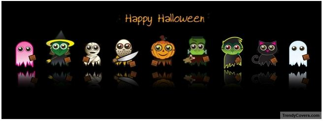 cute happy halloween facebook cover photo