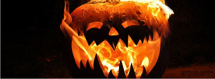 spooky pumpkin facebook cover picture for halloween