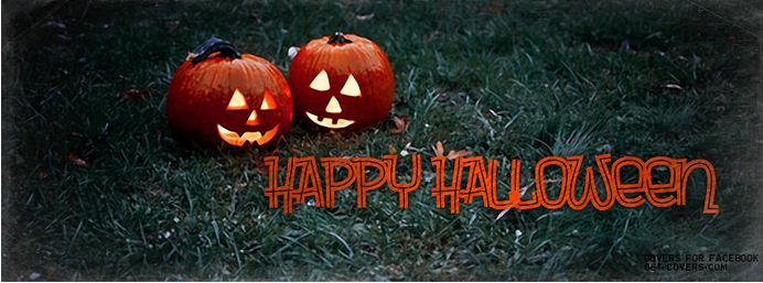happy halloween pumpkins garden decor picture for facebook cover