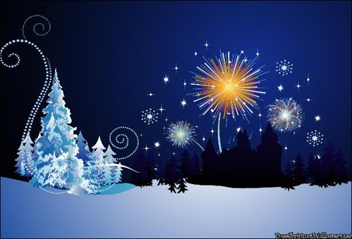 christmas party night wallpaper