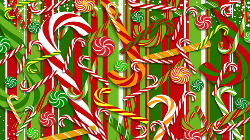 christmas candy wallpaper background