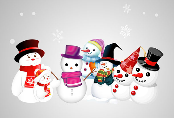 christmas snowmen wallpaper image