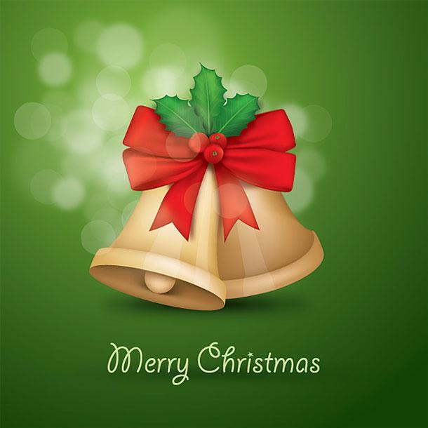 merry christmas jingle bells wallpaper design