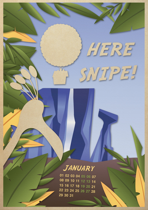 2013 calendar posters - children's animated movies