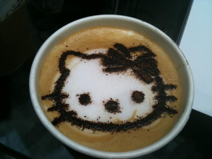 Hello Kitty Latte Art