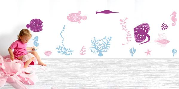Under Water Scene Wall Sticker