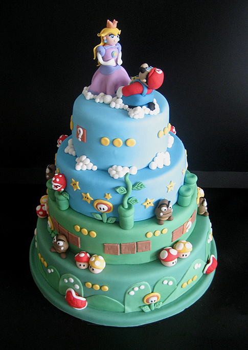 Mario Bros Wedding Cake