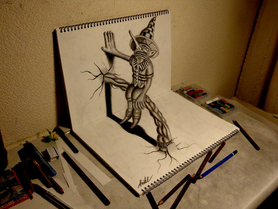 3D Drawing - Residents on the sketchbook