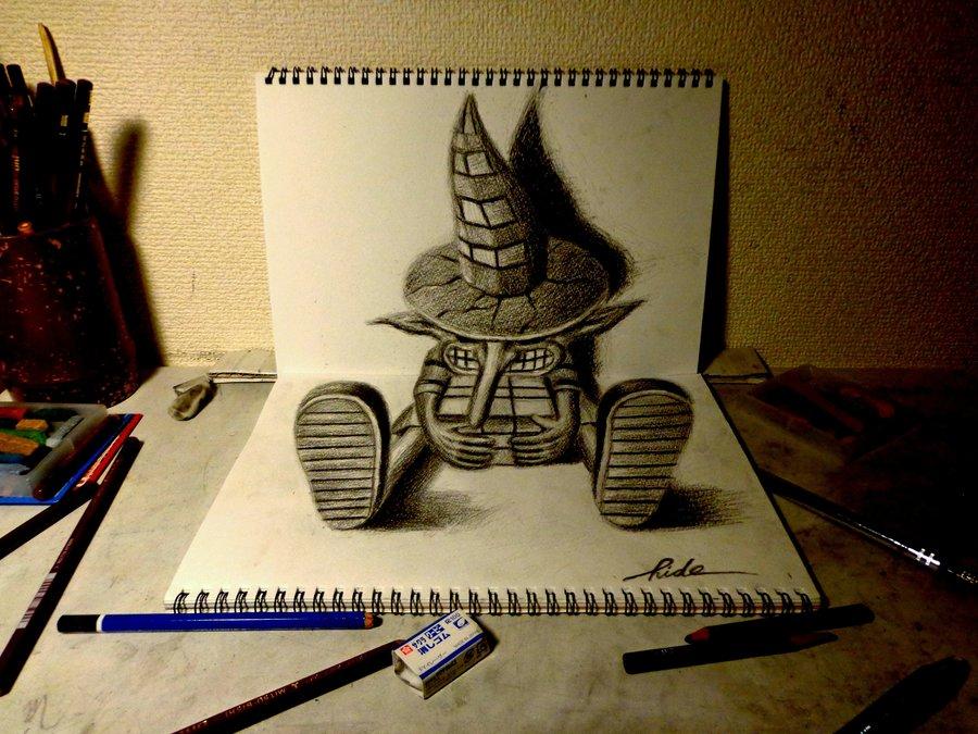 3D Drawing - Wanderer