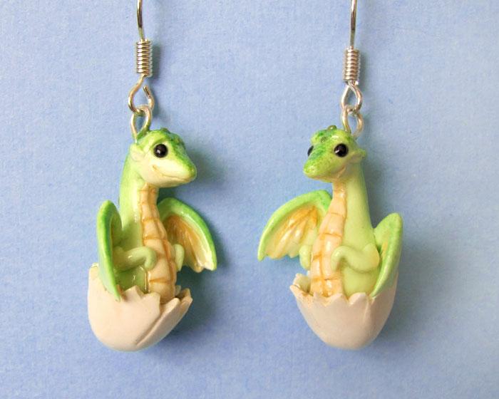 Baby Dragon Earrings