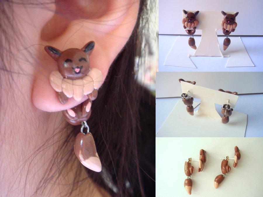 Clinging Eevee Earrings