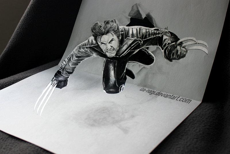 Coacuatchoo - 3D DRAWING on PAPER