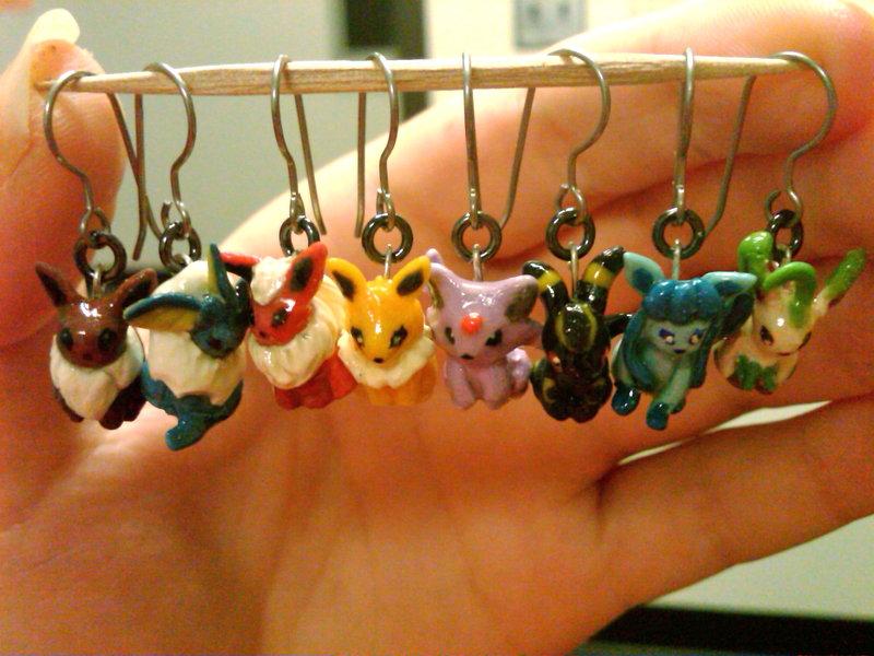 FINISHED Eeveelution Earrings