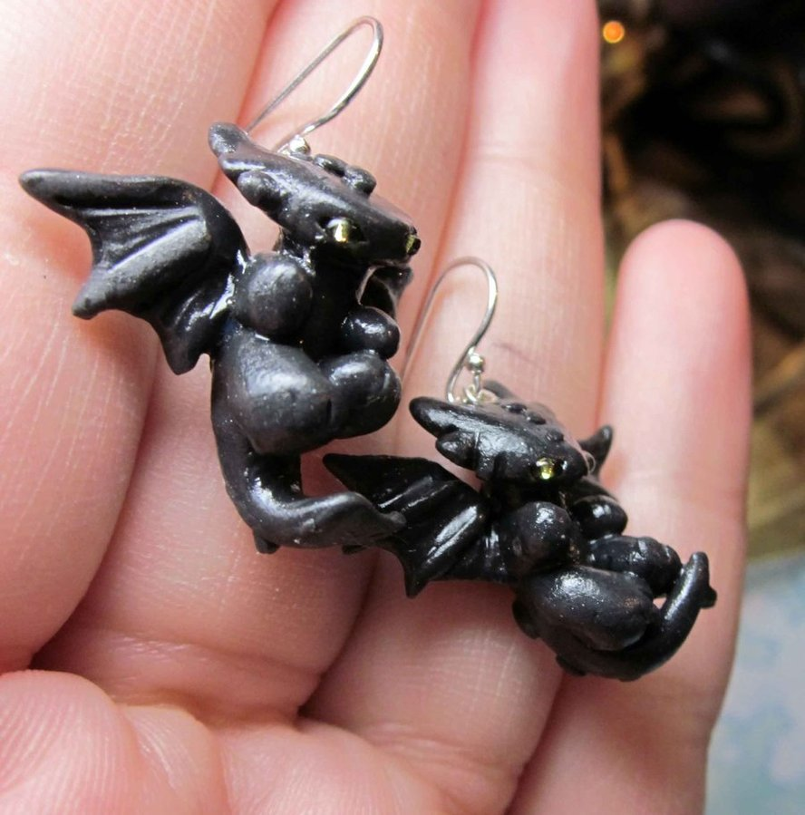 Nightfury earrings