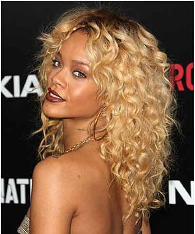 Rihanna Curly Hairstyle