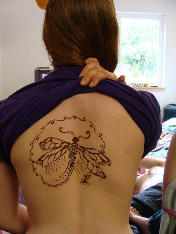 henna dragonfly