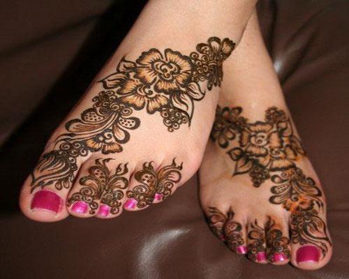 Eid Special Mehndi Design for Feet