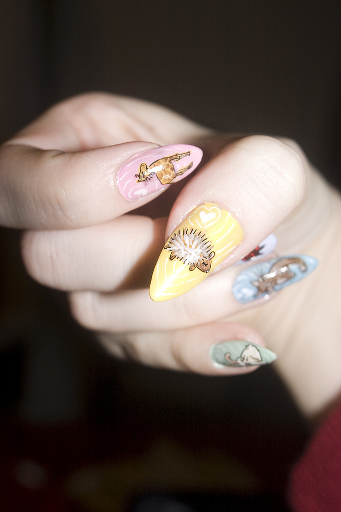 Animals Acrylic Paint Nails