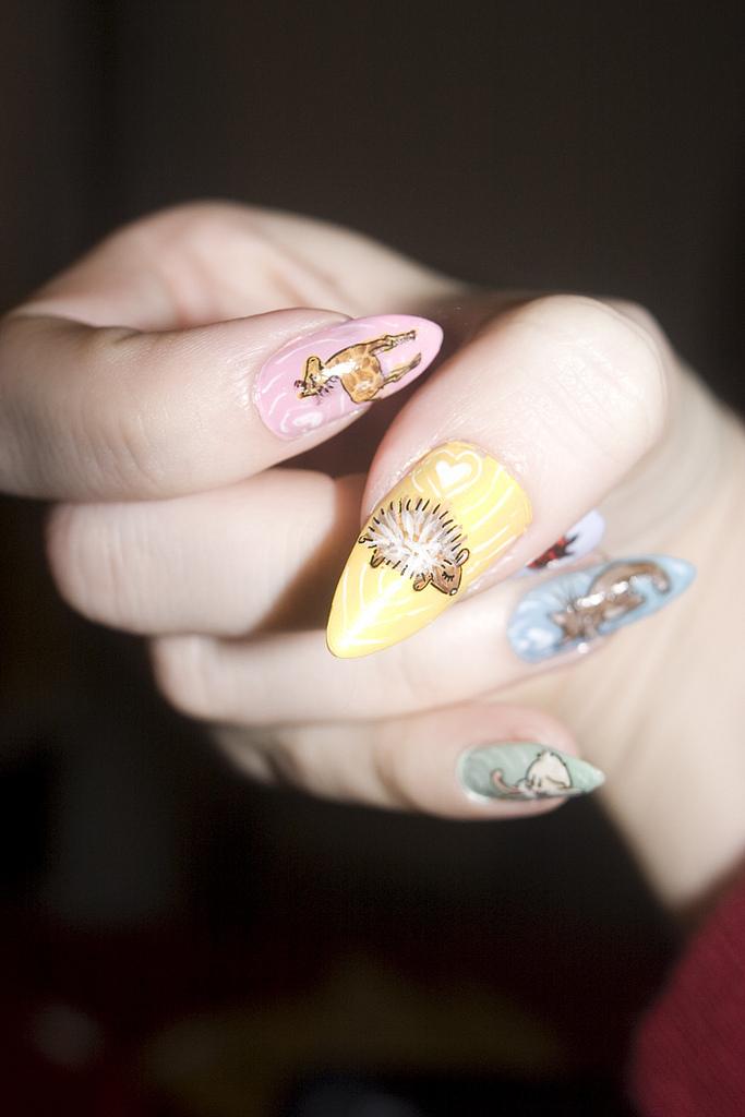 Animals Acrylic Paint Nails