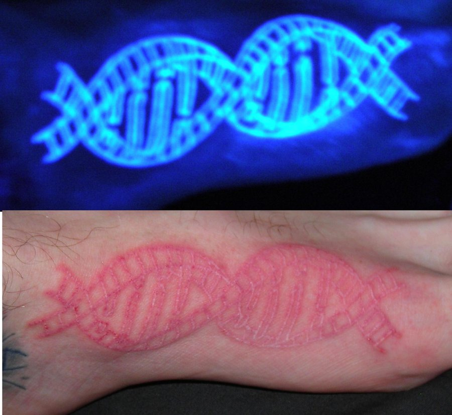 Invisible DNA Tattoo
