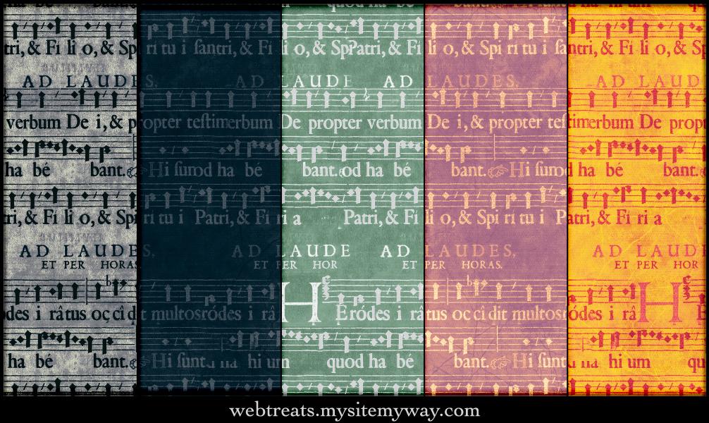 Grunge Music Score Patterns