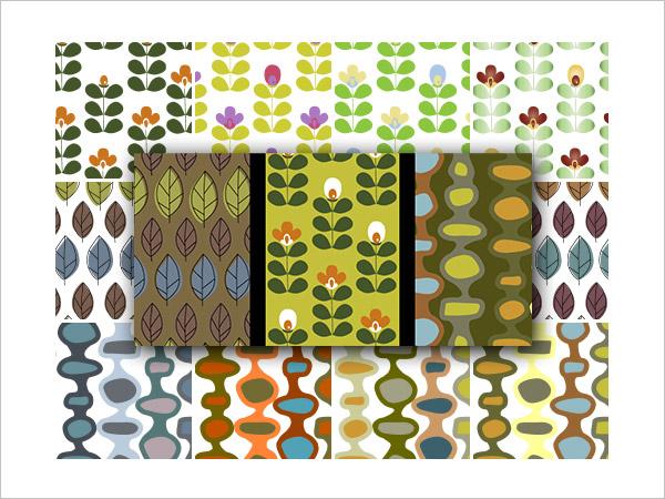 Retro Nature PS & AI Pattern Pack