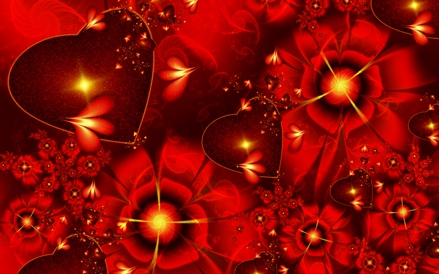Valentines Day Fractal Wallpaper