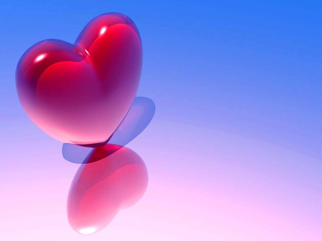 Glass Heart Valentines Day Wallpaper