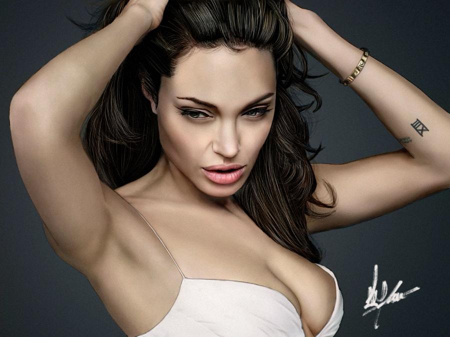 Digital Painting - Angelina Jolie