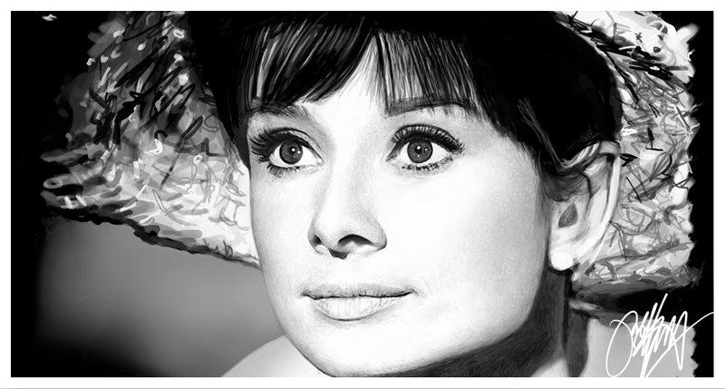 Digital Painting - Audrey Hepburn