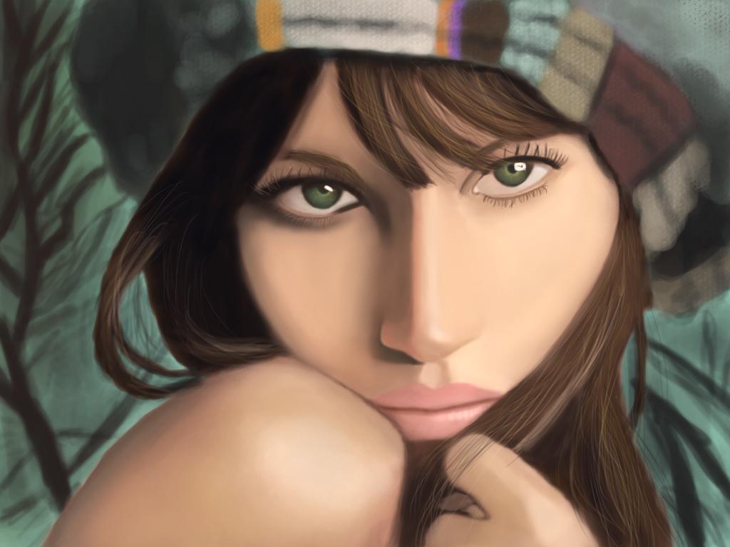 Digital Painting - Gisele Bundchen
