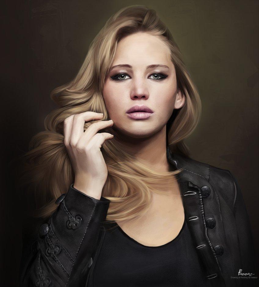 Digital Painting - Jennifer Lawrence
