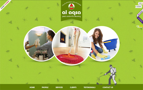 Green Website Design - Al Aqsa Pest Controll
