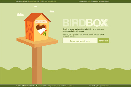 Green Website Design - Birdboxx