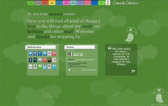 Green Website Design - Carolina Canchila