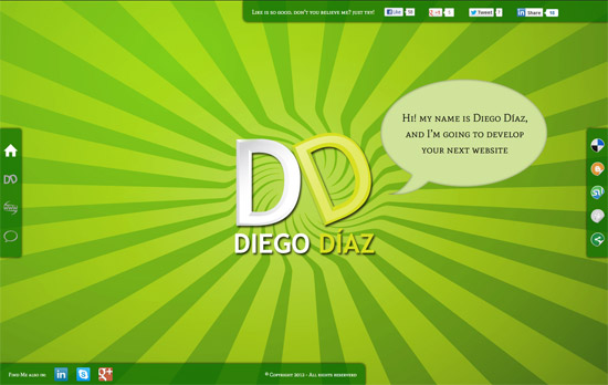 Green Website Design - Diego Diaz