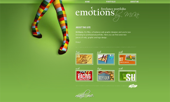 Green Website Design - Emotions Live