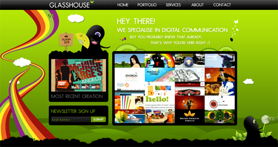 Green Website Design - Glasshouse