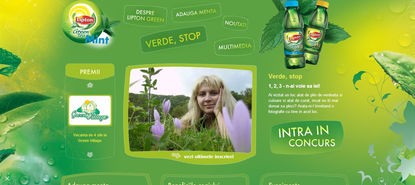 Green Website Design - Lipton Green Tea