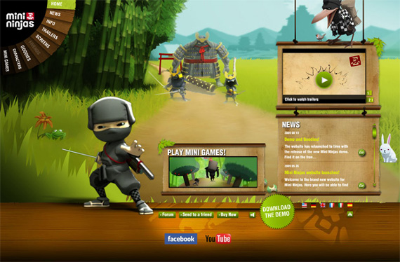 Green Website Design - Mini ninjas